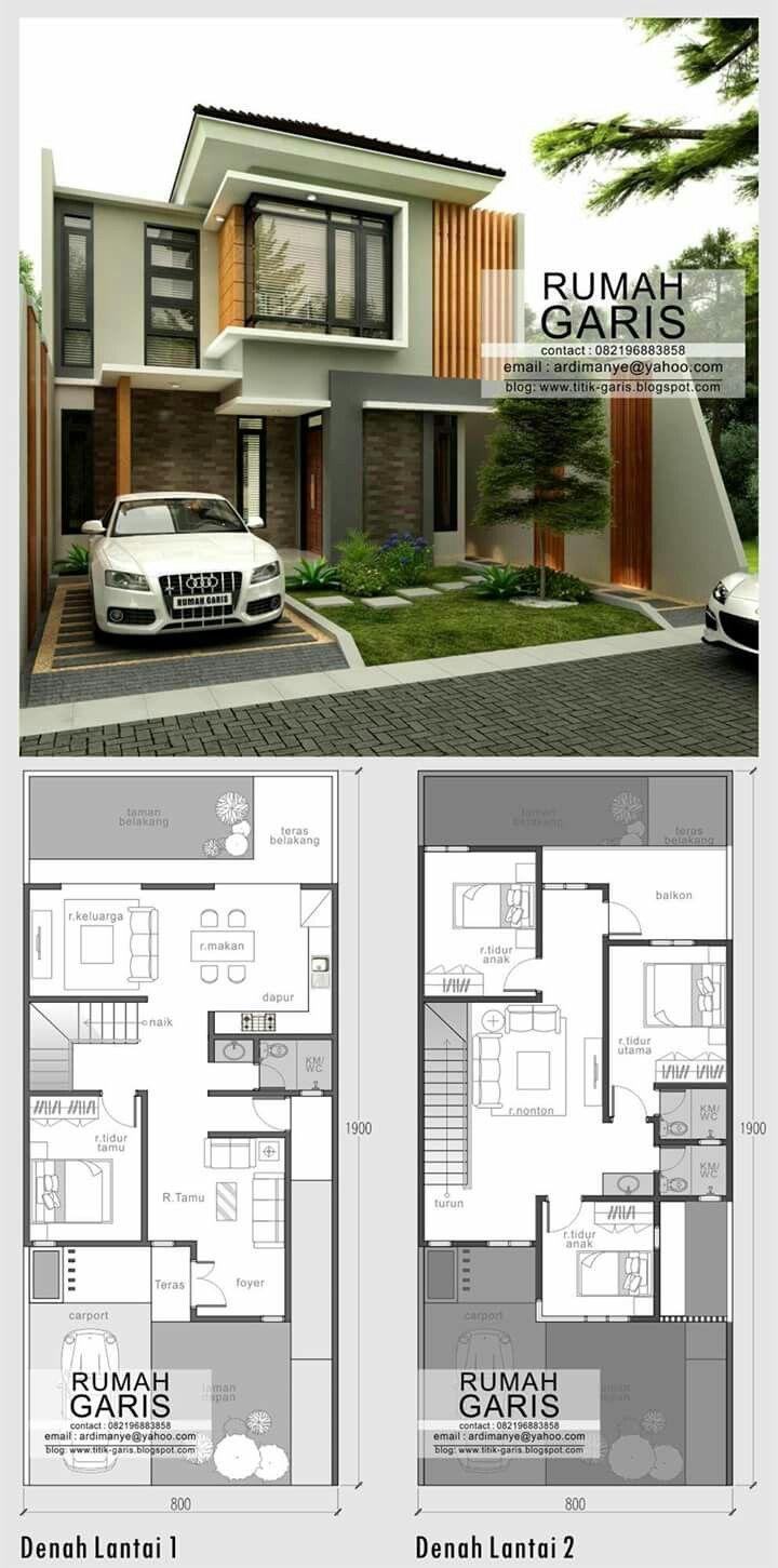 Pin By Amanda Aurelia On Rumah Idaman Architecture House House Plans House Floor Plans