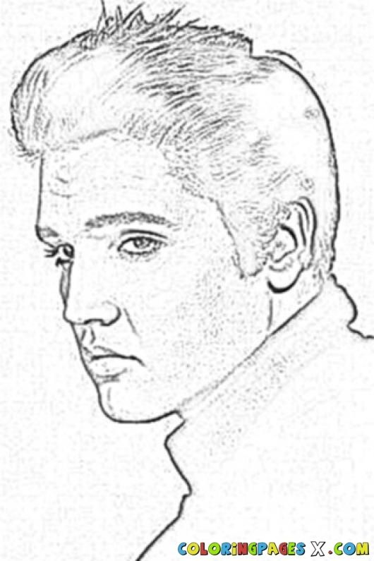 Elvis Presley Color Pages | Coloring Pages
