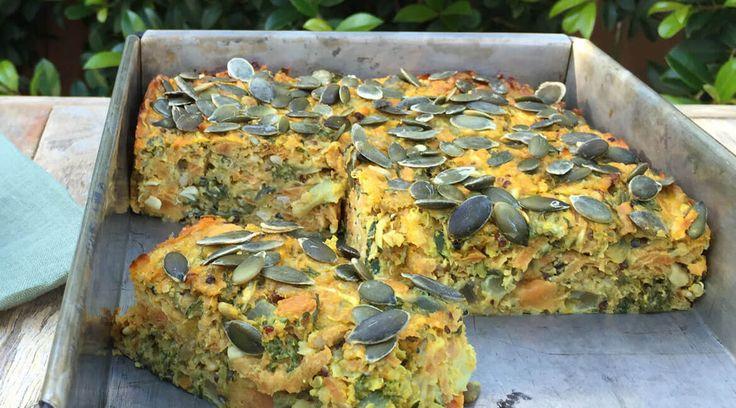 Sweet Pototo Quinoa Slice