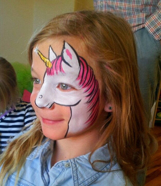 Unicorn face painting by WWW.COLORADOFACEPAINTING.COM