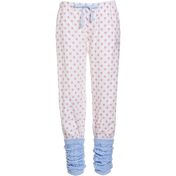 Pink Spot Leg Warmer Pant ❤ liked on Polyvore