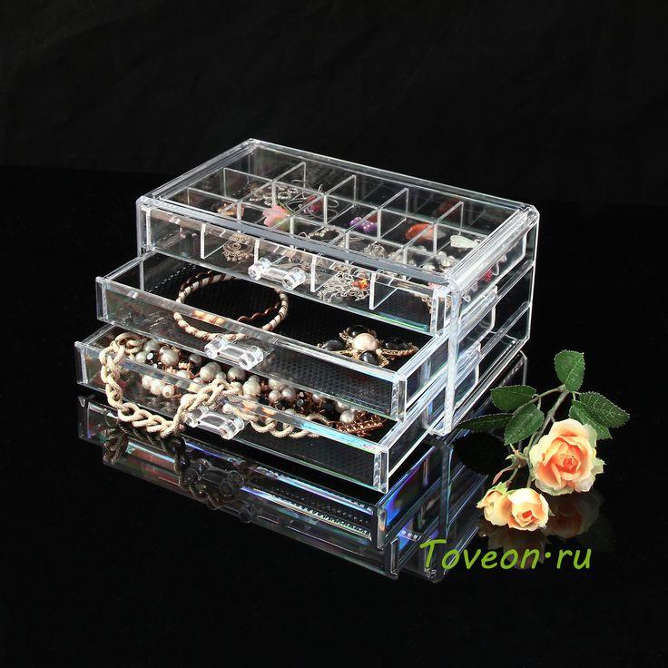 Caixa Organizador Acrilico 3 Gavetas Kit Joias Divisórias - R$ 113,98 no MercadoLivre