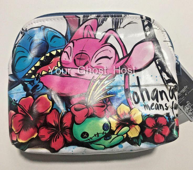 Lilo and Stitch Angel Makeup Bag Ohana Means Family Zipper