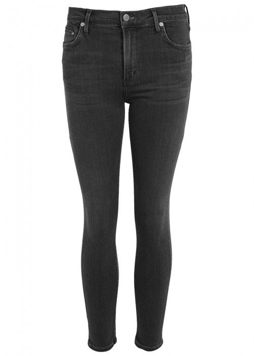CITIZENS OF HUMANITY CITIZENS OF HUMANITY ROCKET BLACK CROPPED SKINNY JEANS. #citizensofhumanity #cloth #