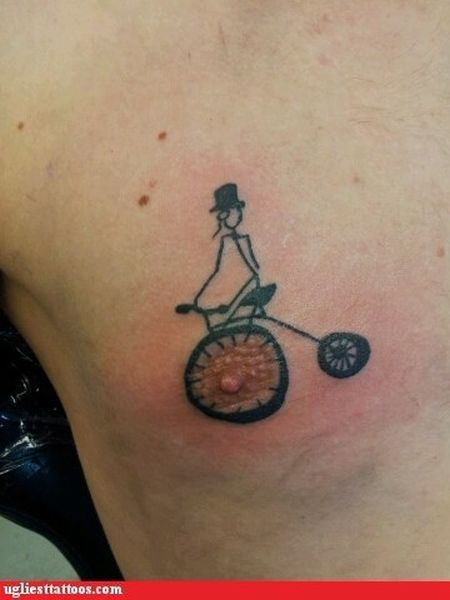 Penny-Farthing bicycle nipple!