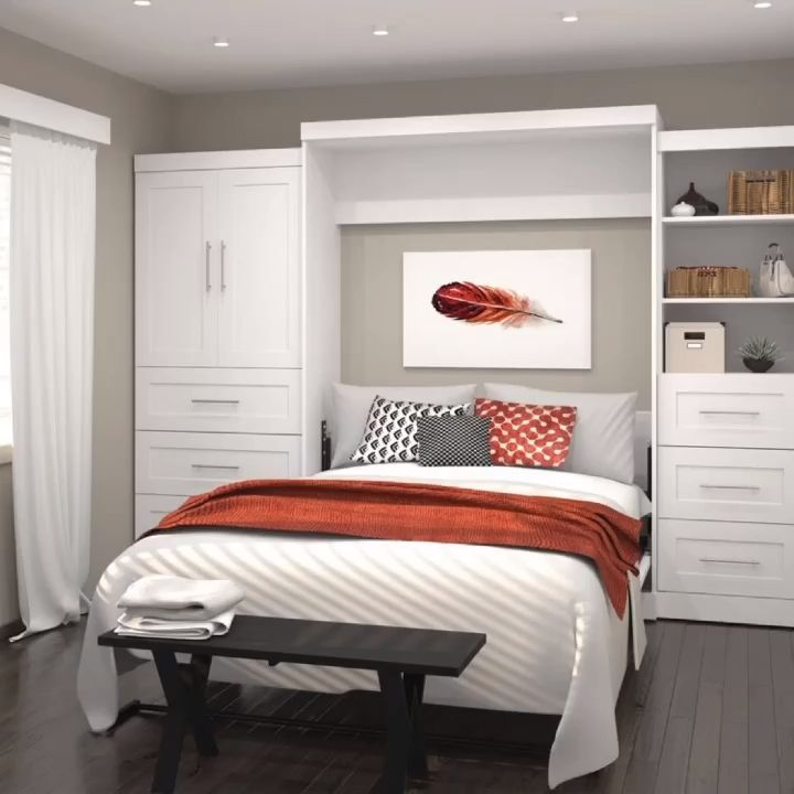 Wall Murphy Bed For Guest Room