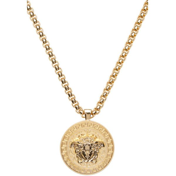 Best 25 mens gold chain necklace ideas on pinterest gold chain versace gold medusa chain necklace 1325 cad liked on polyvore featuring mens fashion mozeypictures Choice Image