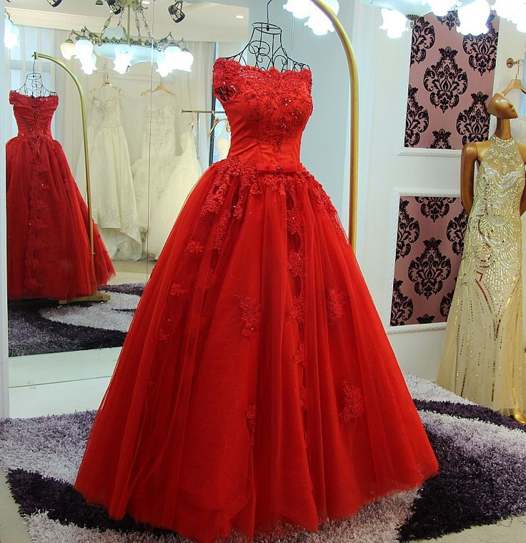 Find More Wedding Dresses Information about WB388 China Wedding Dresses Abiti Da Sposa Boat Neck Off Shoulder Red Appliques Beading Lace Tulle Ball Gown Wedding Dress,High Quality dress linen,China dress suits for sale Suppliers, Cheap dress like lady gaga from Beautydress on Aliexpress.com