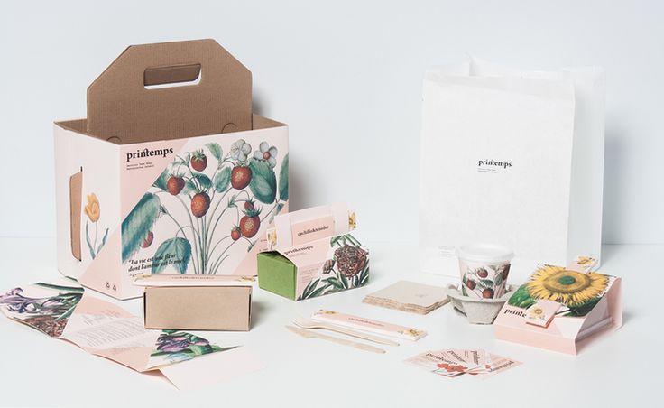 บรรจุภัณฑ์อาหารและเครื่องดื่มเก๋ๆจาก Printemps Take Away จาก Bunjupun.com