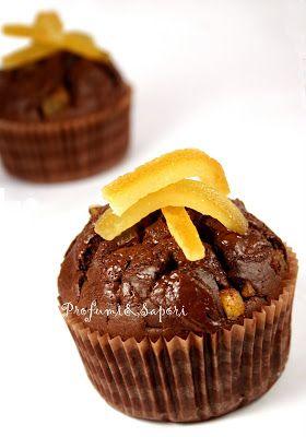 Muffin arancia e cioccolato di Luca Montersino - stefania profumi & sapori