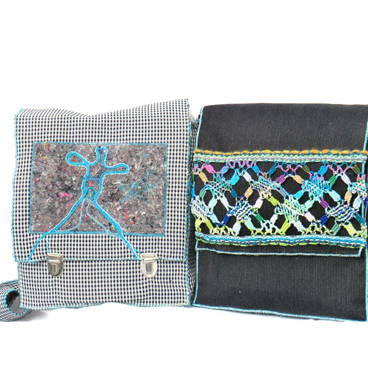bags with lace, made by Uli Baysie