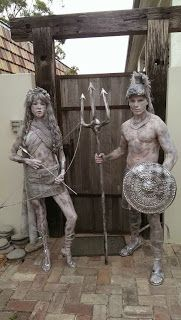 Bodypainting News Media: BNY Gladiator Human Statues
