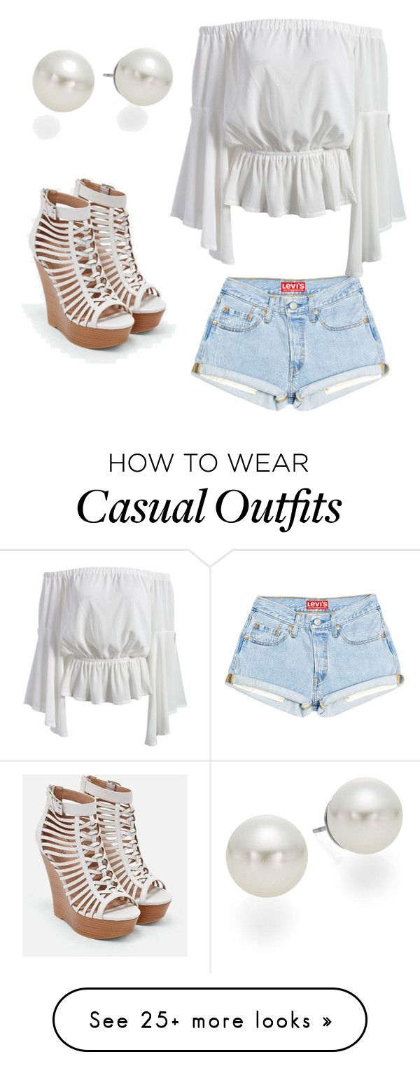 """""""Casual/dinner outfit"""" by earms49 on Polyvore featuring JustFab and AK Anne Klein"""