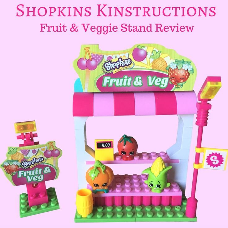 Most Popular Gifts This Christmas Part - 45: We Got The Shopkins Kinstructions Fruit And Veggie Stand!
