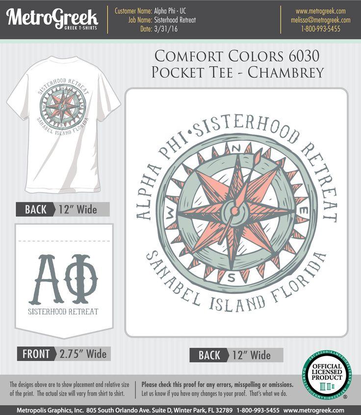Sisterhood Retreat | Alpha Phi T-shirts | Greek Life | Sorority T-shirts