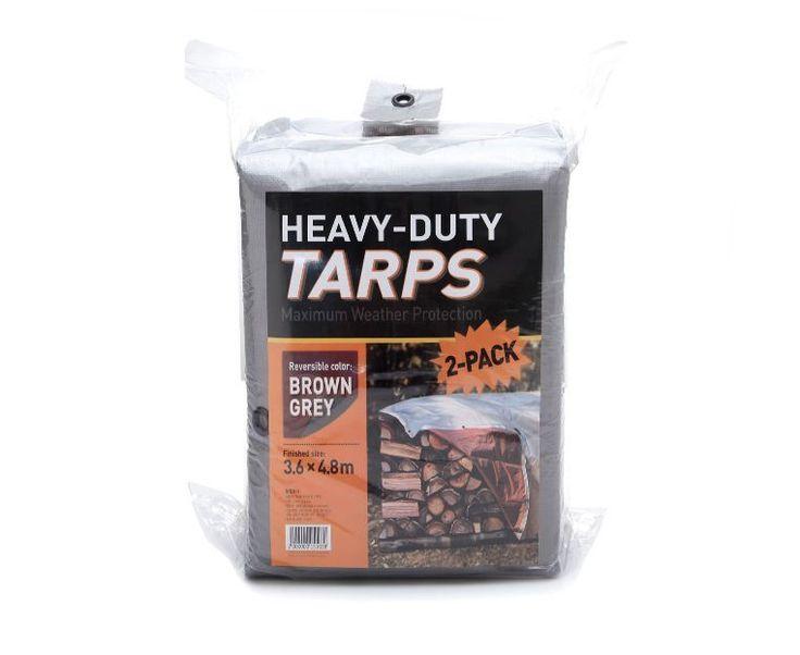 2ea Multi-purpose Tarpaulin Tarps(3.6 x 4.8M), Utility Cover Camping Tent Ground #Emart