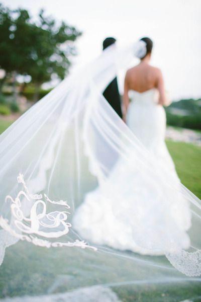 fabulous monogrammed veil