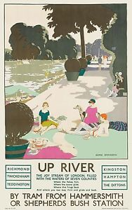Up-River-by-Tram-1926-vintage-travel-poster-reprint