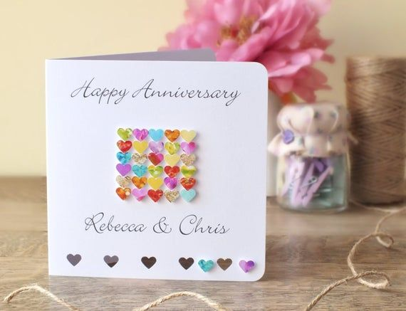 Personalised Wedding Anniversary Card Happy Anniversary Etsy In 2021 Marriage Anniversary Cards Wedding Anniversary Cards Happy Anniversary Cards