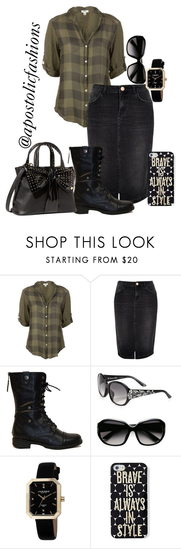 """""""Apostolic Fashions #1128"""" by apostolicfashions on Polyvore featuring Dylan, River Island, Reneeze, Christian Dior, Akribos XXIV, Keds and Betsey Johnson"""