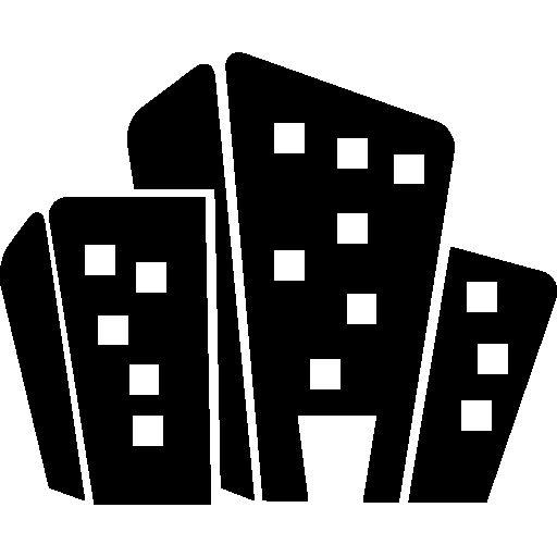 Cartoon buildings I Free Icon