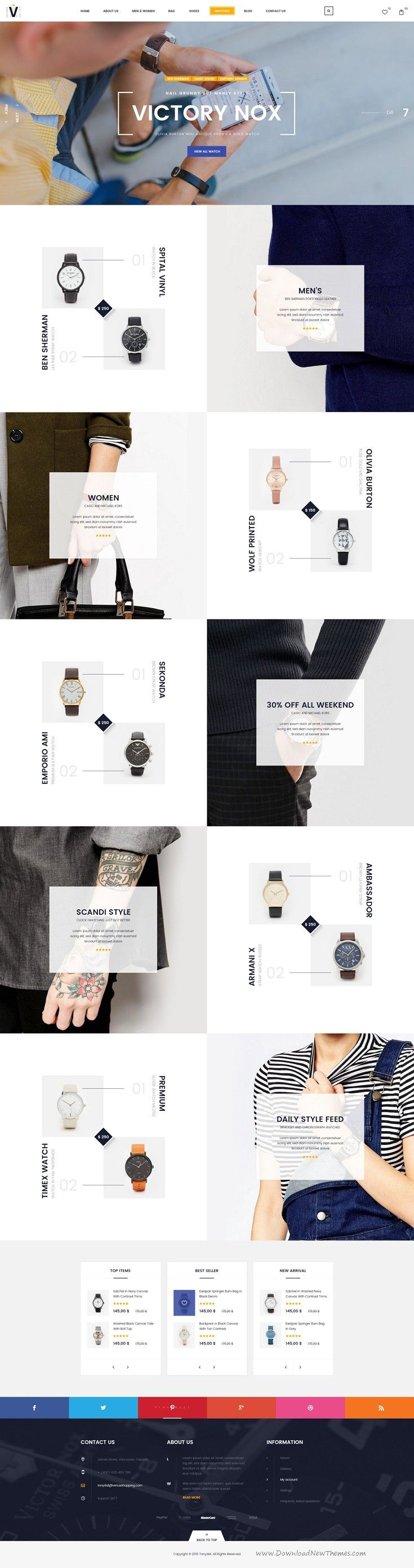 The Venus Vip Shop is multipurpose PSD template designed for eCommerce website. Download Now!