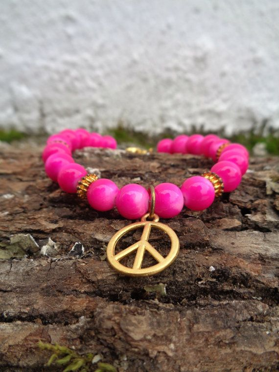 Pink shine OOAK friendship bracelet / Bohemian bracelet / Summer bracelet/ jade beaded bracelet / semiprecious jewelry / Ethnic bracelet