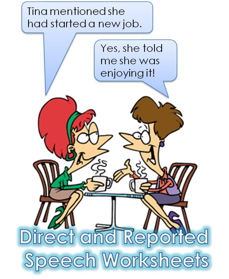 Direct and Reported Speech Worksheets – Really Learn English Store