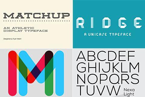 Free modern fonts