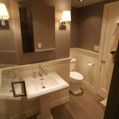 17 best images about powder bath on pinterest design - Bathroom remodel ideas with wainscoting ...
