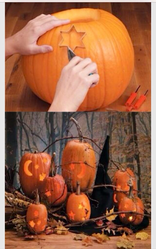 Pumpkin carving made easy with cookie cutters!