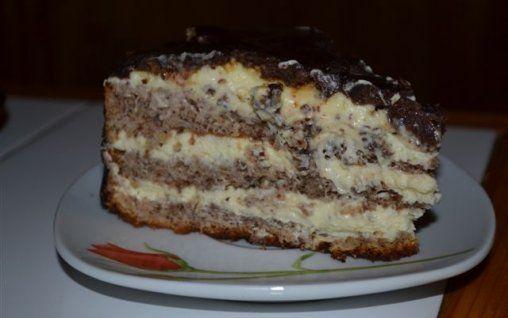 Retete Culinare - Tort cu crema mascarpone si nuci