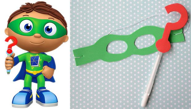 Turn your Little Super WHY! fans into super readers with this easy craft.