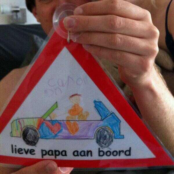 Isä autossa :).