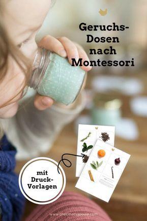 Geruchsdosen nach Montessori Druckvorlagen www.chezmamapoule.com