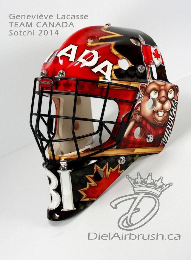 Gen Lacasse Canadian Olympic Hockey Goalie Mask 4