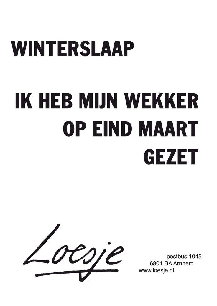 Winterslaap - Loesje ❥