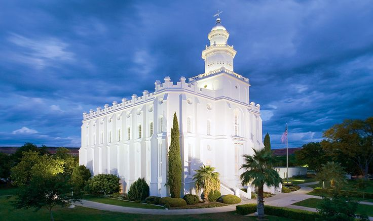 St. George Utah Temple. The Church of Jesus Christ of Latter-day Saints (LDS, Mormon). 001. Dedicated Apr 6, 1877. Rededicated Nov 11, 1975.