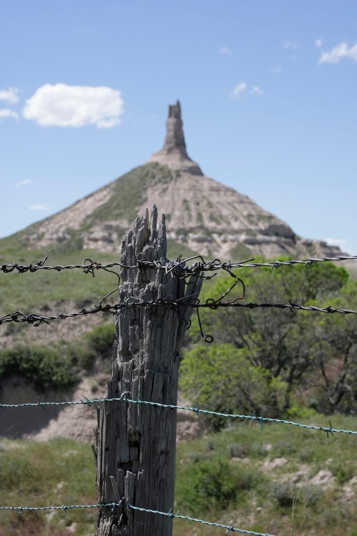 Chimney Rock, Nebraska  A National Historic Site Was A Landmark Along The Oregon  Trail