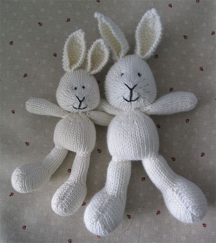 Knitting Small Animals : Big and small bunny sock animals yarns