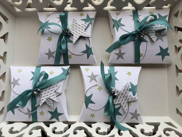Weihnachtliche Pillow Box ~ STEMPEL...und deine Ideen werden wahr...