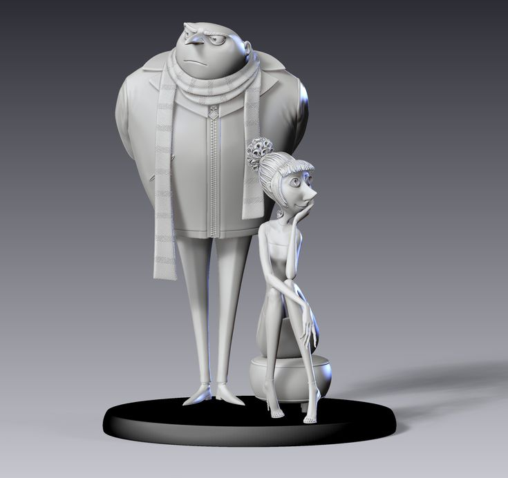Despicable Me 2: Making of Gru and Lucy maquette
