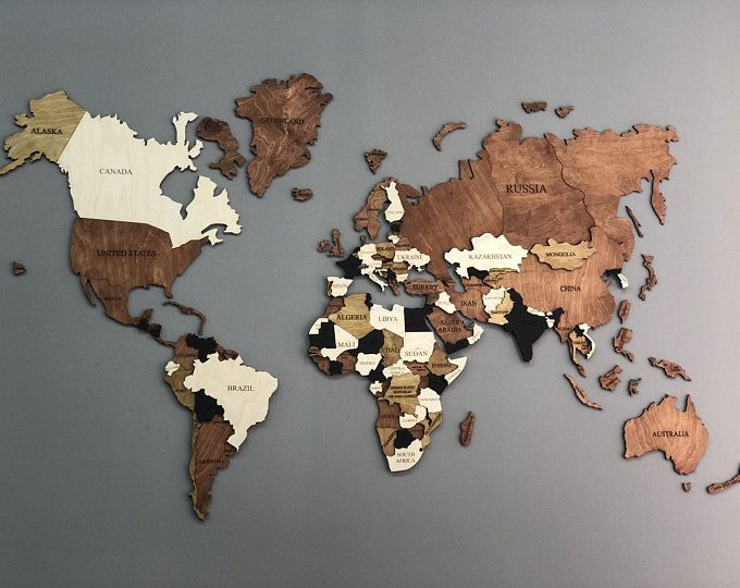 World Map Wood World Map World Map Wall Art Wood Wall Art Wooden