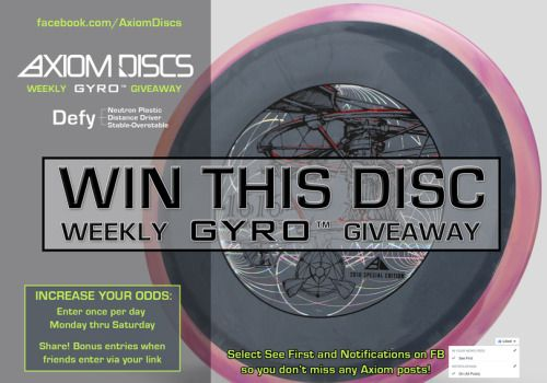 Axiom Discs 1616 Neutron Defy Disc Golf Driver Giveaway {WW}... IFTTT reddit giveaways freebies contests
