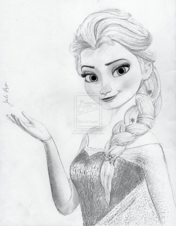 Elsa from Disney's Frozen by julesrizz.deviantart.com on @deviantART
