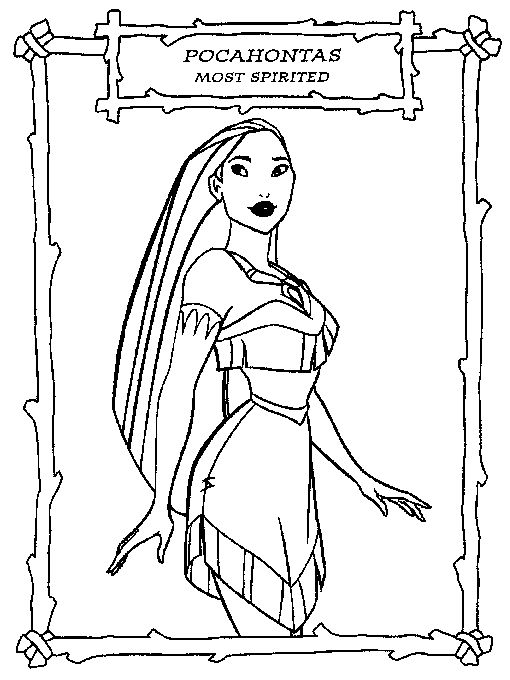 The Pocahontas Coloring Pages