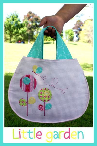 flower applique on bag