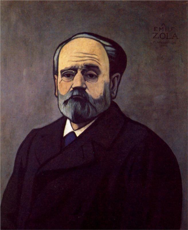 Portrait of Zola - Felix Vallotton, 1902
