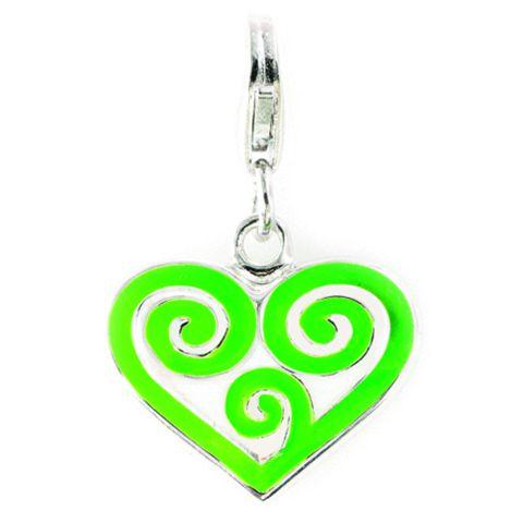 Koru Heart Sterling Silver Charm By ZALA | Shop New Zealand