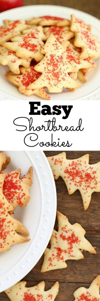 Easy Shortbread Cookies - Super tasty shortbread cookies that don't require any chilling or extra fuss. Just 4 ingredients, + one secret ingredient that makes the dough super easy to work with! You've got to try these! | Lou Lou Biscuit